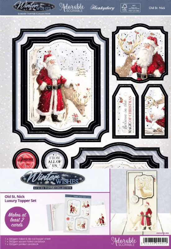 Old St Nick - Winter Wishes Luxury Topper Set By Hunkydory